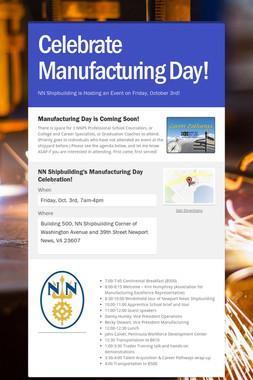 Celebrate Manufacturing Day!