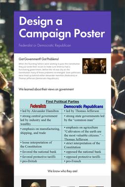 Design a Campaign Poster
