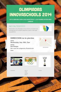 Olimpiadas innovaschools 2014