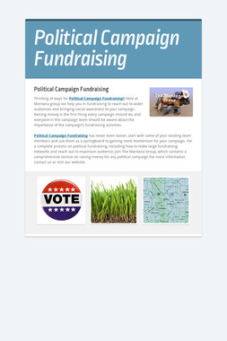 Political Campaign Fundraising