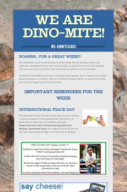 We are Dino-mite!