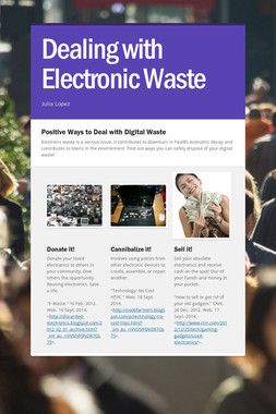 Dealing with Electronic Waste