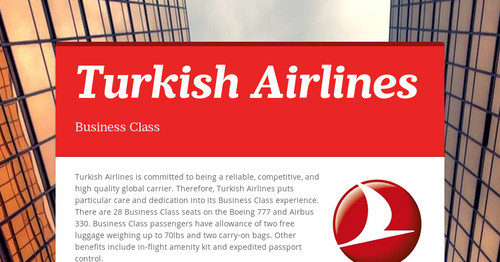 Turkish Airlines | Smore Newsletters