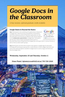 Google Docs in the Classroom