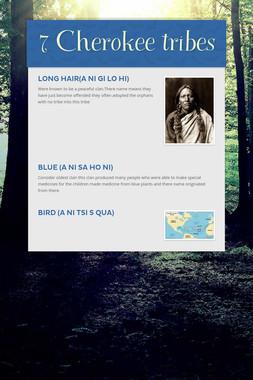 7 Cherokee tribes