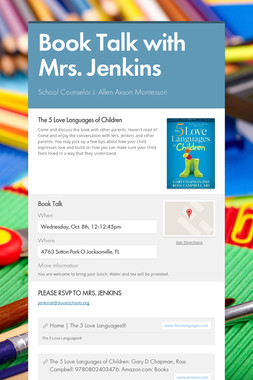 Book Talk with Mrs. Jenkins