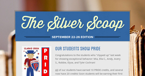 The Silver Scoop | Smore Newsletters