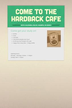 Come to the Hardback Cafe