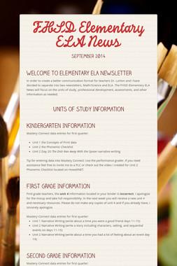 FHSD Elementary ELA News