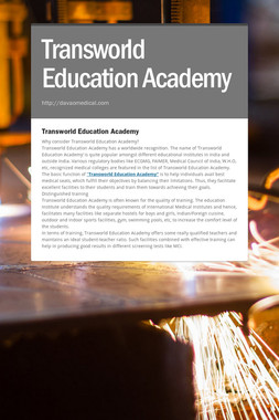 Transworld Education Academy