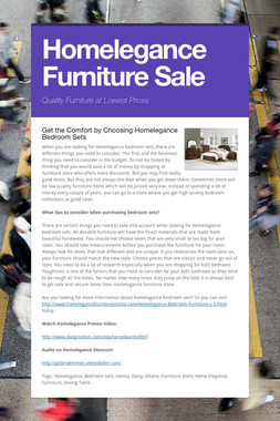 Homelegance Furniture Sale