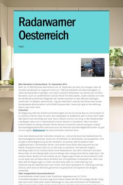 Radarwarner Oesterreich