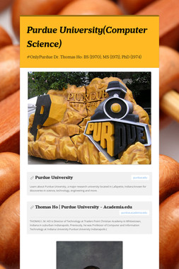 Purdue University(Computer Science)