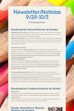 Newsletter/Noticias 9/29-10/3