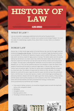 History of Law