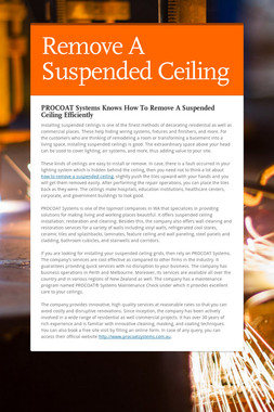 Remove A Suspended Ceiling