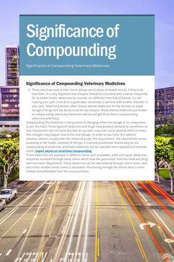 Significance of Compounding
