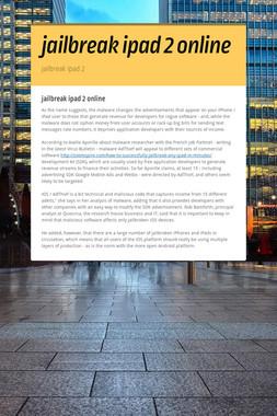 jailbreak ipad 2 online