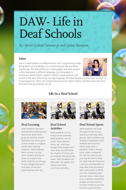 DAW- Life in Deaf Schools