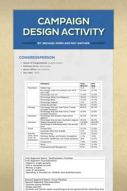 Campaign Design Activity