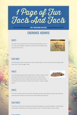 1 Page of Fun Facts And Facts