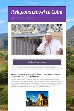 Religious travel to Cuba