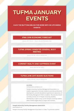 TUFMA January Events