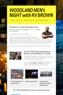 WOODLAND MEN's NIGHT with RV BROWN