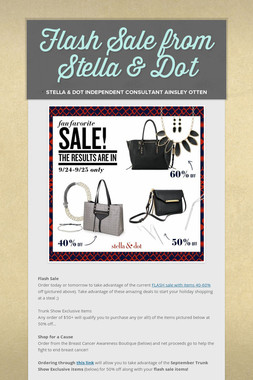 Flash Sale from Stella & Dot