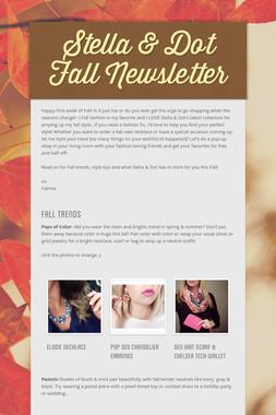 Stella & Dot Fall Newsletter