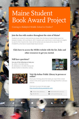 Maine Student Book Award Project