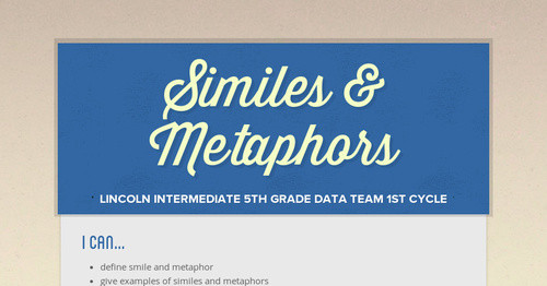 Similes Metaphors Smore Newsletters For Education
