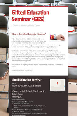 Gifted Education Seminar (GES)