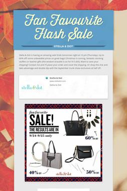 Fan Favourite Flash Sale