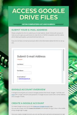 Access Google Drive Files