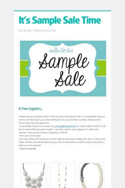 It's Sample Sale Time