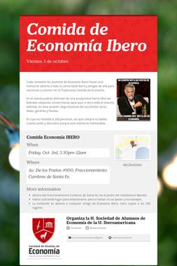 Comida de Economía Ibero