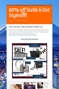 60% off Stella & Dot Styles!!!!!
