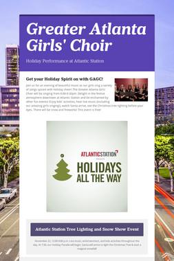 Greater Atlanta Girls' Choir