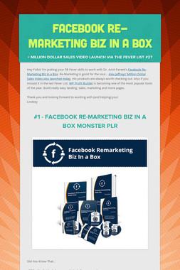 Facebook Re-marketing Biz in a Box
