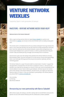 VENTURE NETWORK WEEKLIES