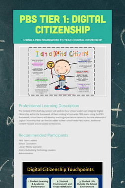PBS Tier 1: Digital Citizenship