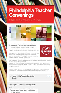 Philadelphia Teacher Convenings
