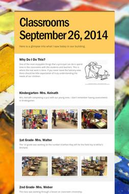 Classrooms September 26, 2014