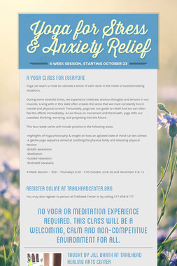 Yoga for Stress & Anxiety Relief