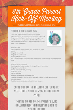 8th Grade Parent Kick-Off Meeting