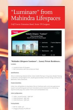 """Luminare"" from Mahindra Lifespaces"