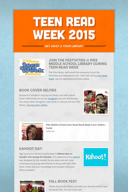 Teen Read Week 2015