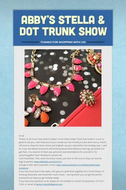 Abby's Stella & Dot Trunk Show