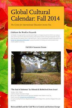 Global Cultural Calendar: Fall 2014